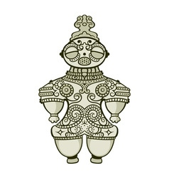 Jomon dogu figurine vector