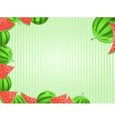 Greeting Card With Watermelon Decoration vector image