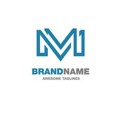 creative letter m logo vector image
