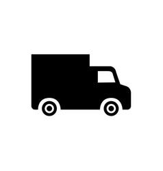 black truck icon vector image