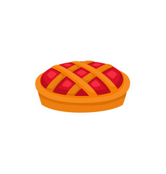 Traditional cartoon apple pumpkin fruit pie vector