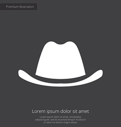 Classic hat premium icon white on dark background vector