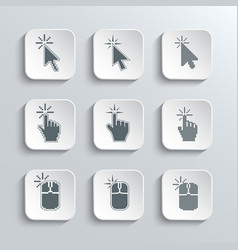 Click here mouse web icons set vector