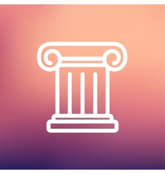 Ancient wall thin line icon vector