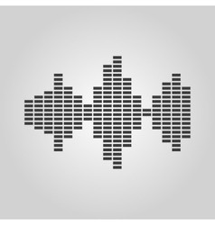 The sound wave and equalizer icon Audio radio vector image