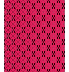 Bright abstract seamless pattern with red arrows vector