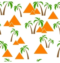 Seamless palm pyramids vector