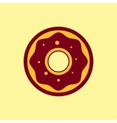 Fast food icon donut pictogram vector
