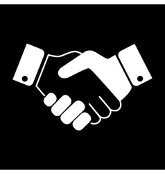 White handshake icon vector