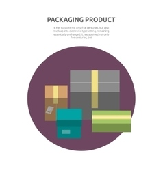 Packing product icon design style vector