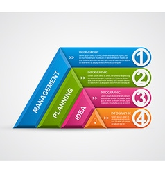 Abstract 3d pyramid options infographics template vector