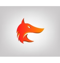 fox head in profile Styling logo vector image