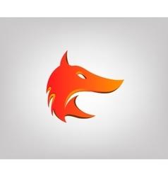 Fox head in profile styling logo vector