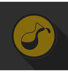 Dark gray and yellow icon - flask with a drop vector
