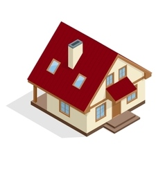 Residential House flat 3d isometric vector image