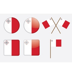 Badges with flag of malta vector