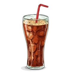 Coca cola color picture sticker vector image