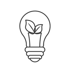 Light bulb and leaf icon save energy design vector