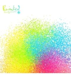 Rainbow colors sprayed paint abstract vector