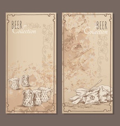 Beer collection cards for the restaurant menu vector