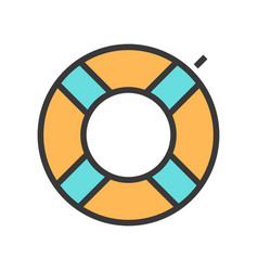 a swimming circle vector image vector image