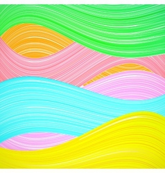 Abstract colorful wave background vector image vector image