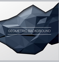 Black abstract low poly polygonal triangular vector