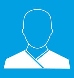 Buddhist monk icon white vector