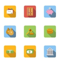 Cash icons set flat style vector