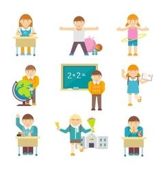 Children at school vector