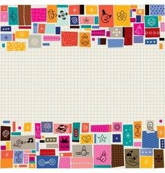 Collage doodle background 2 vector
