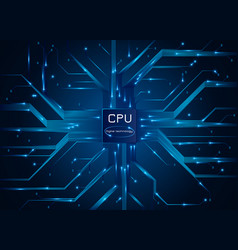 computer processor cpu chip electronic circuit vector image