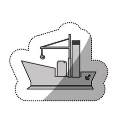 Contour ship maritime transpotation vector