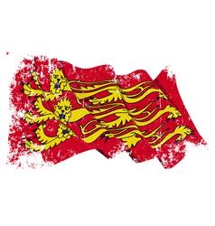 Englands royal baner flag grunge vector