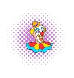 Face clown comics icon vector