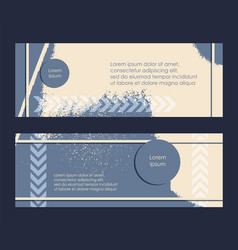 Flyer grunge texture blue yellow set abstract vector