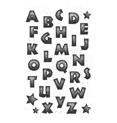 Grunge full alphabet vector image