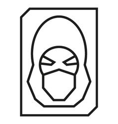 Hacker avatar web internet icons vector