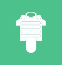 Icon bulletproof vest vector