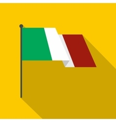 Italy flag icon flat style vector