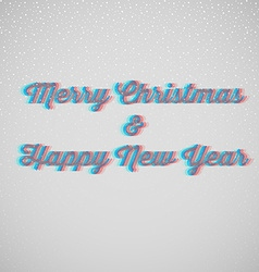 Marry christmas and happy New Year vector image vector image