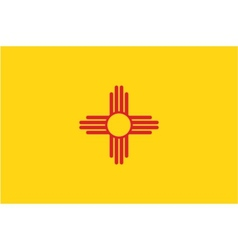 New Mexico flag vector image vector image