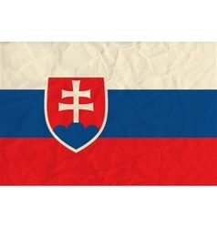 Slovakia paper flag vector image vector image