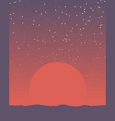 Space retro banner vector