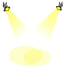 spot light vector image