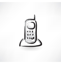 telephone grunge icon vector image