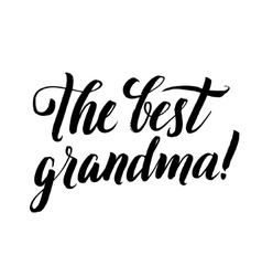 The best grandma happy grandparents day vector