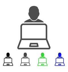 User laptop flat icon vector