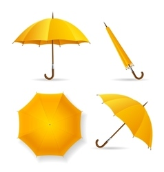 Yellow Umbrella Template Set vector image vector image