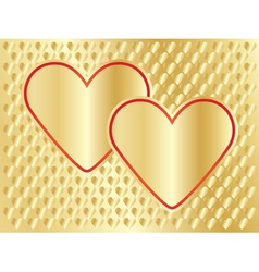 golden Day of Valentine background vector image